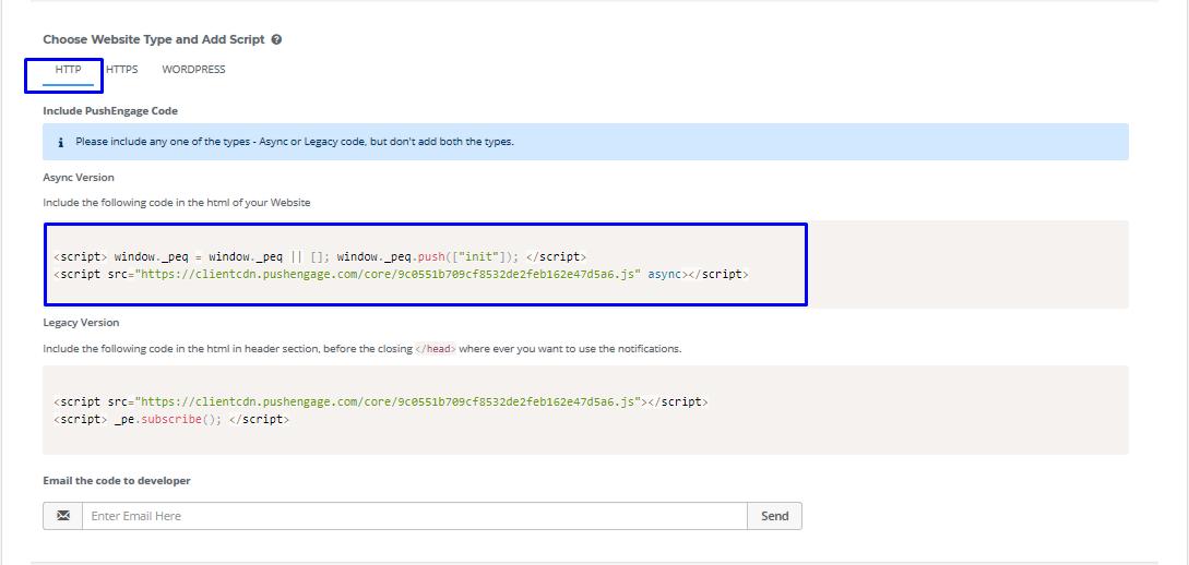 Pushengage-code-for-installation