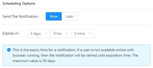 expiry in push notification