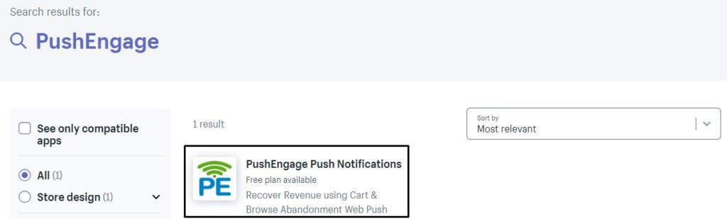 PushEngage Push Notification Shopify App