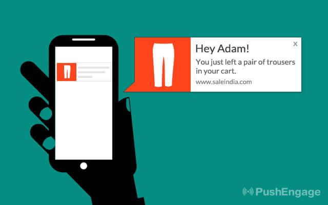 custom push notification on mobile