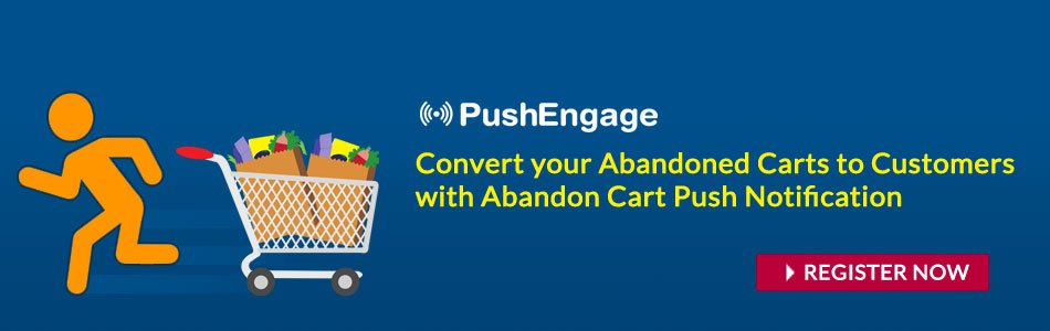 Register and Improve Cart Abandonment