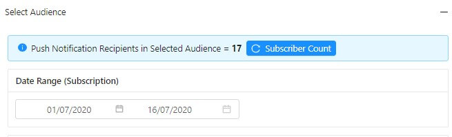 subscriber count based on date
