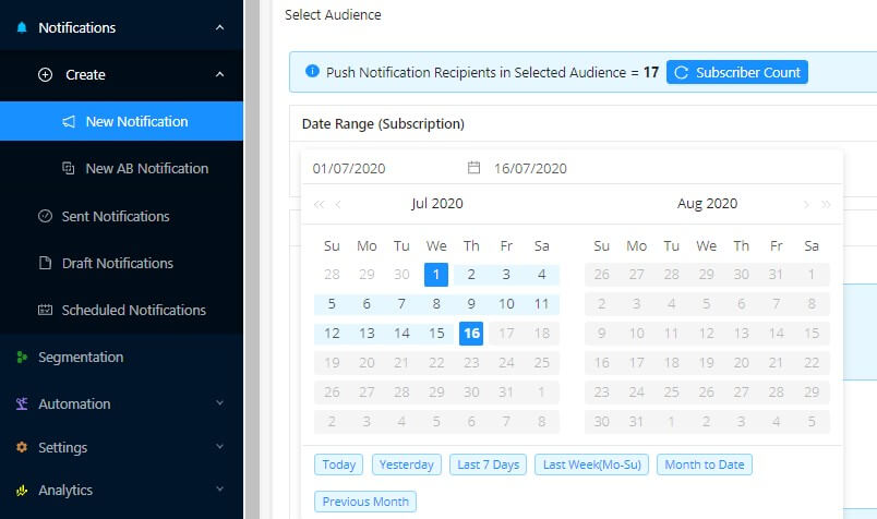 subscription date based segmentation