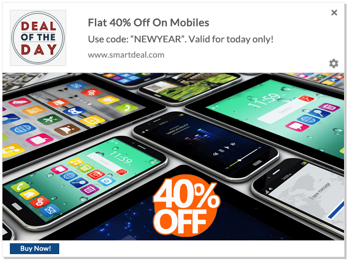 Web Push Notification Ideas: Deal Of The Day