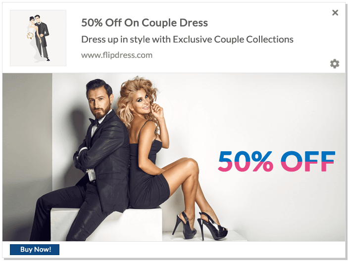 Web Push Notification Ideas: New Year Couple Collection