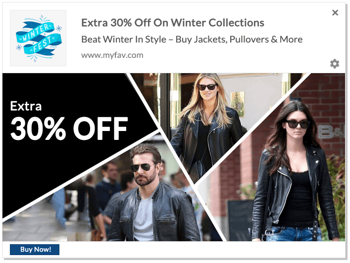 Web Push Notification Ideas: Winter Special Fashion