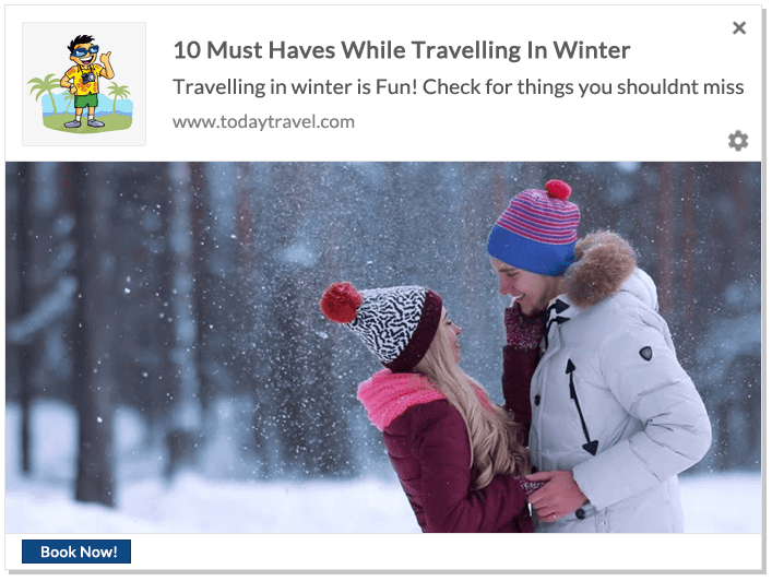 Web Push Notification Ideas: Winter Travel Guide