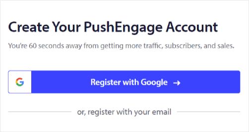 PushEngage Account Setup