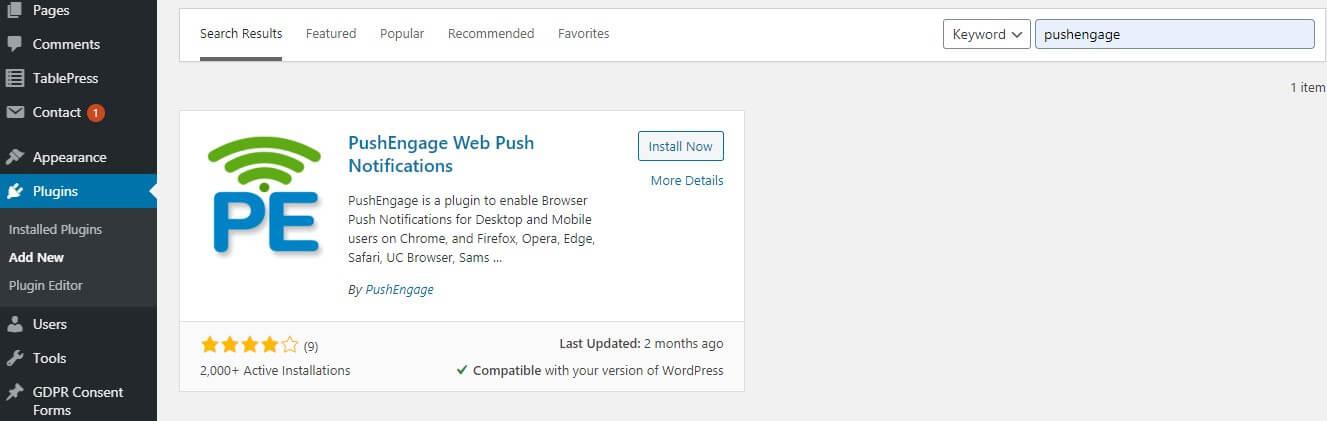 PushEngage WordPress Plugin