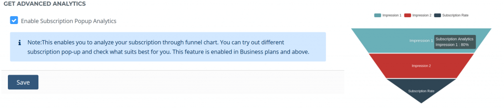 Funnel Analytics Enable
