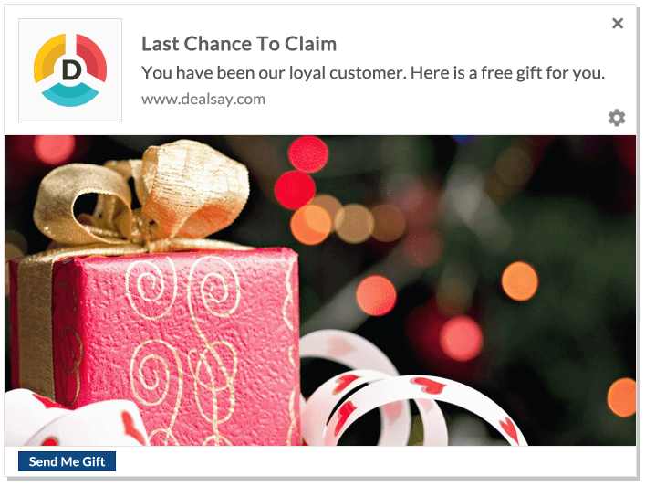 Web Push Notification Example - Last Chance To Claim