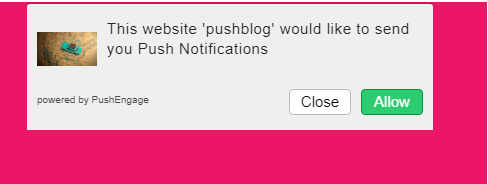 PushEngage push notifications