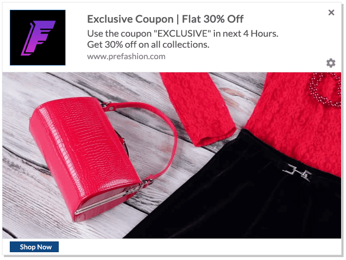 push notifications best practices Limited Time Coupon Push Notifications Example