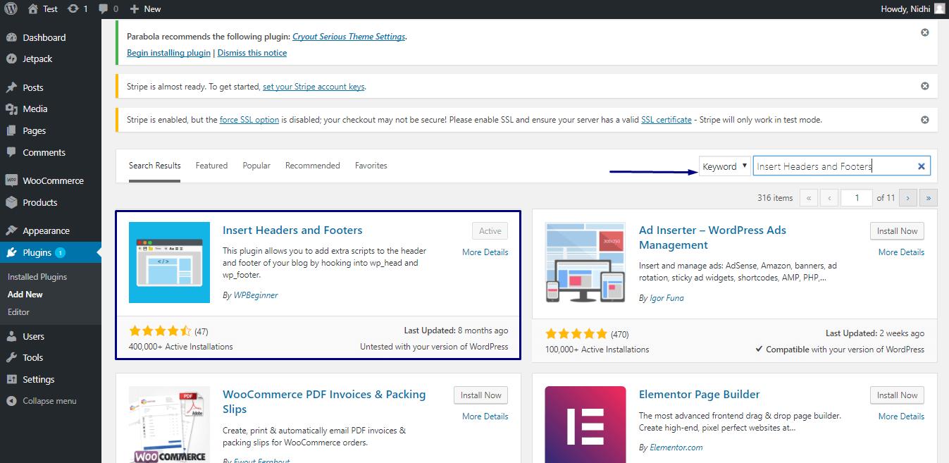 wordpress plugin for woocommerce website
