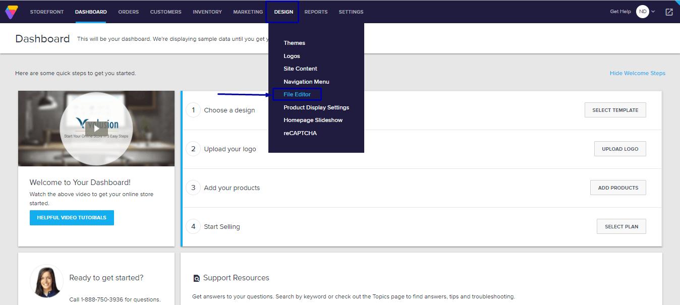 Volusion Website File Editor