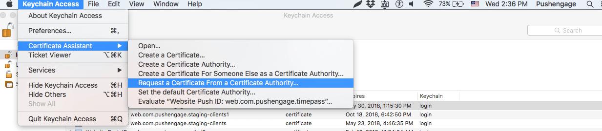 keychain step 1