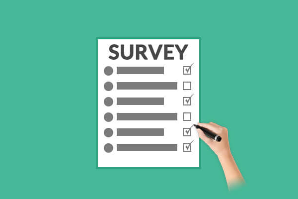 Create survey to engage with user