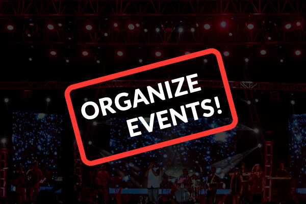 Organize events to engage with the user