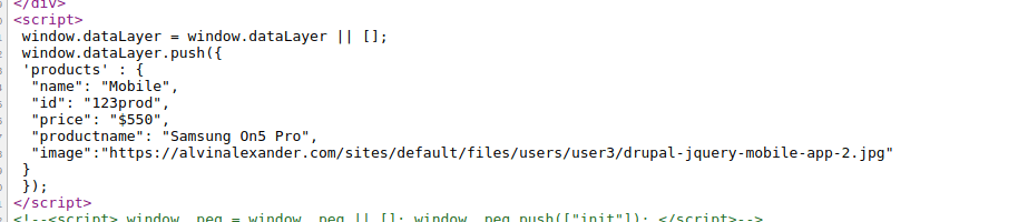 abandon cart using gtm datalayer
