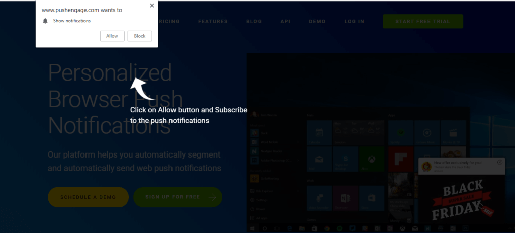optin with subscription overlay