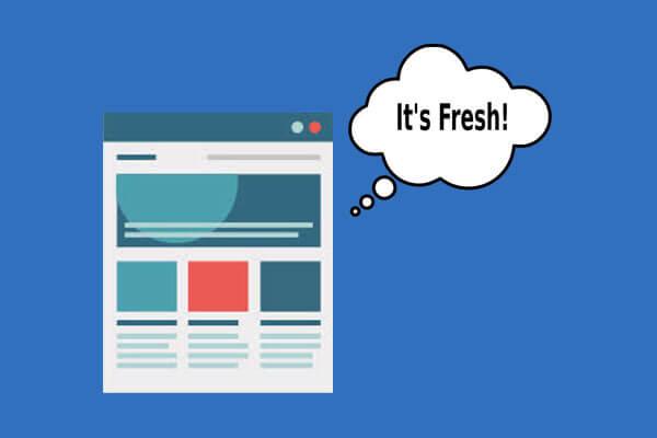 Keep Website Fresh