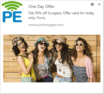 Push Notification For Deal Of The Day Campaign