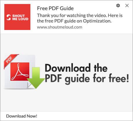 Push Notification Download PDF