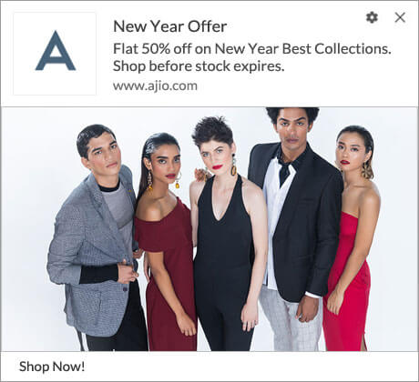 Push Notification for New Year Offer
