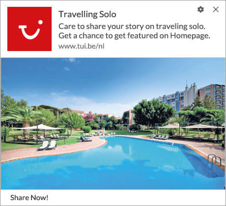 Push Notification to Share Travel Story