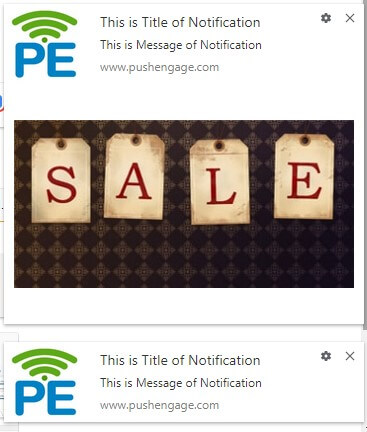 AB Testing Notification based on image and without image