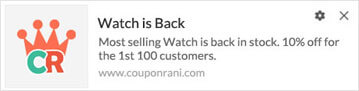 Back in Stock Campaigns Push Notifications