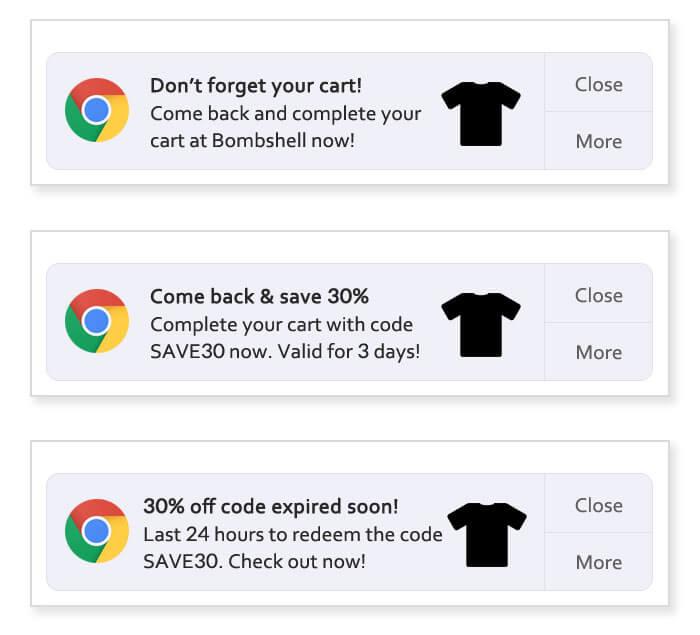 Web Push Notifications on Google Chrome Example