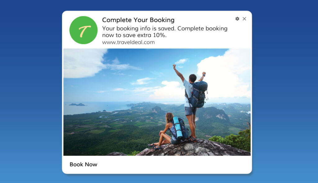 Reminders To Re-engage with Booking Abandonment Users