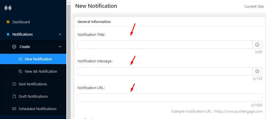 creating new push notification