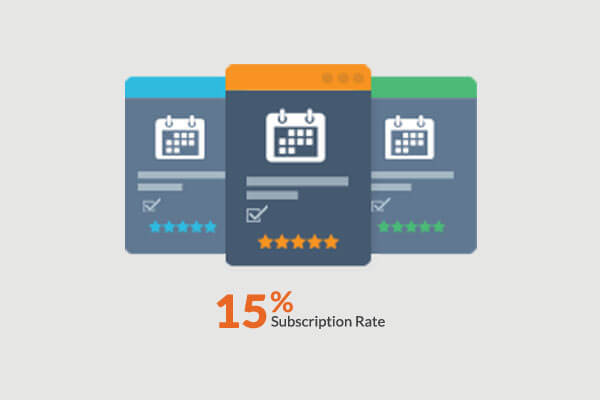 Mydeal 15% Subscription Rate