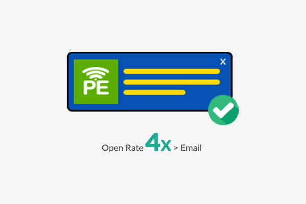Vegis Open Rate 4X than Email