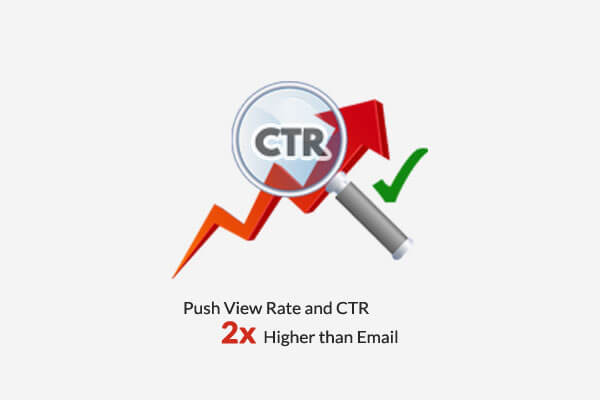 Wholesome Yum Push View Rate and CTR 2x-Higher than Email