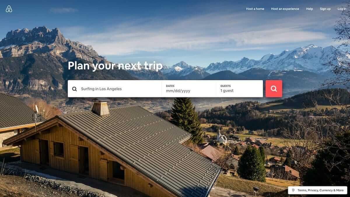 airbnb clean UI