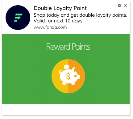 Push Notification Template Double Point