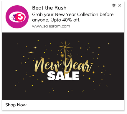 Push Notification Template Holiday Preview Sale