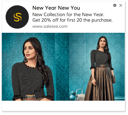 Push Notification Template New Year Sale