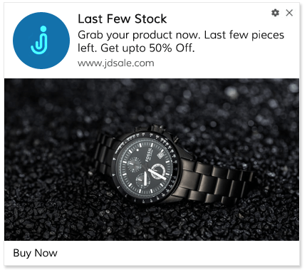 Web Push Notification Template Limited Stock Sale
