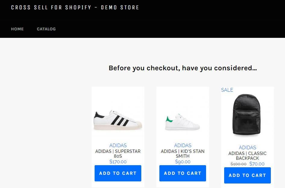 cross sell shopify app