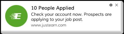Recruiter Account Update Push Notification For Job Sites
