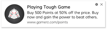 Buy Points playbook for gaming site