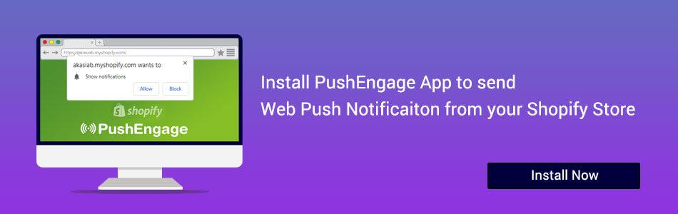 Install Push Notification Shopify App