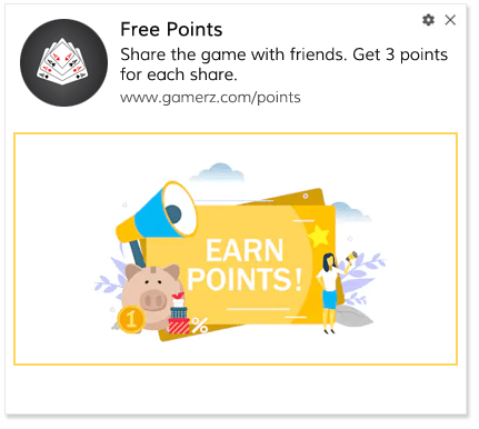 Share earn points playbook for gaming website