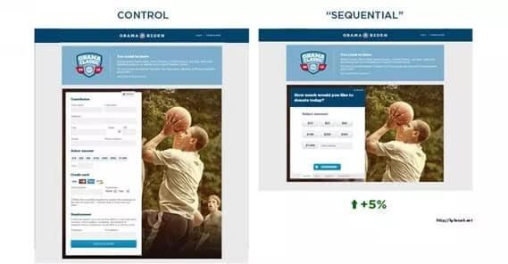 reducing friction in landing page