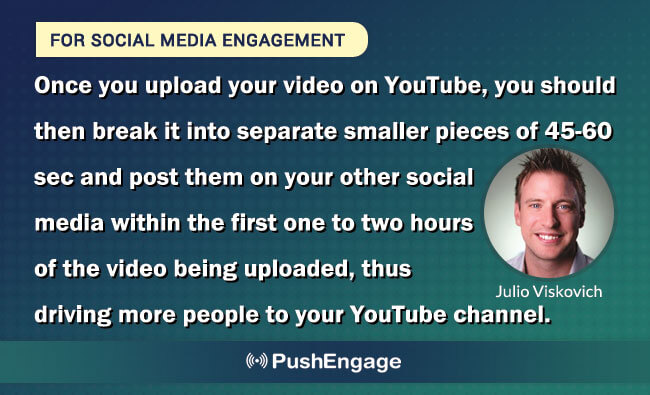 engagment tactics for video