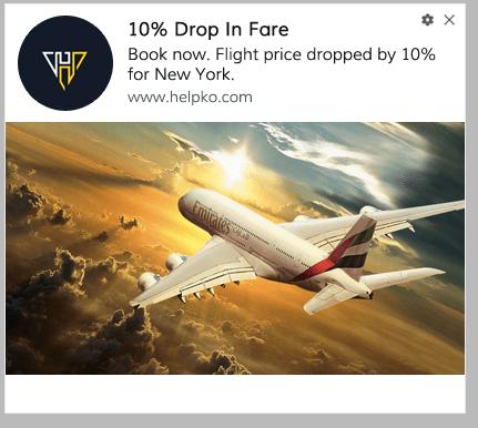 Price Drop Alert For Travel site